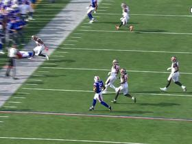 Andre Holmes somehow stays in bounds, makes falling catch