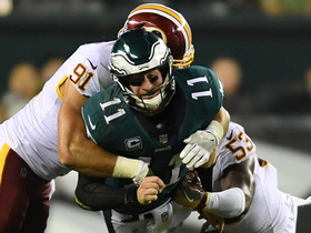 Carson Wentz jukes out Ryan Kerrigan, then gets sacked by him