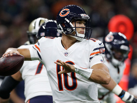 Mitch Trubisky floats perfect pass to Tre McBride for 45 yards