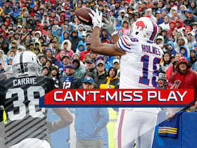 Can't-Miss Play: Andre Holmes catches perfect lob pass for toe-tap TD