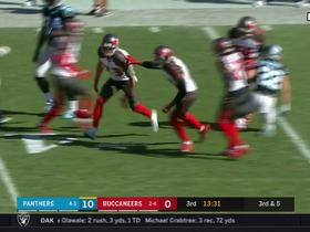 Chris Conte jumps Ed Dickson's route to picks off Cam Newton