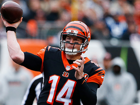 Dalton stands up to fierce Margus Hunt rush, floats TD pass to Malone