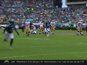 George Kittle makes incredible bobbling one-handed catch down sideline