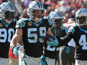 Luke Kuechly picks off Jameis Winston on third and long