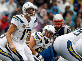 Rivers stops clock at :01 after Ekeler catch