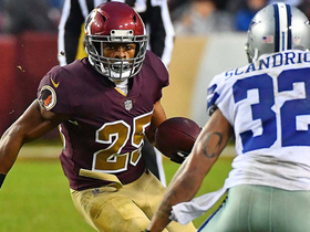 Chris Thompson breaks tackle to get first down