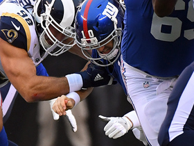 Aaron Donald bulldozes past O-line to strip-sack Eli Manning