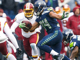 Thomas Rawls bursts through the middle for a first down