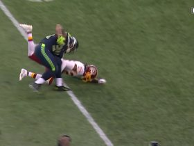 Thomas Rawls stiff arms Josh Norman to the ground