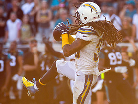 Chargers get hot-potato interception at pivotal moment