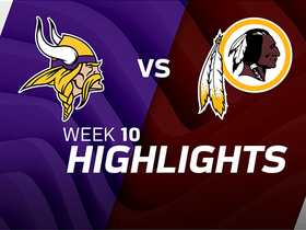 Vikings vs. Redskins highlights | Week 10
