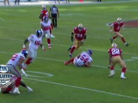 Olivier Vernon tips ball to himself to pick off C.J. Beathard