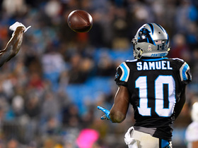 Curtis Samuel drops would-be TD catch
