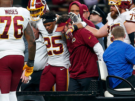 Chris Thompson injured, teammates show support as carted off field