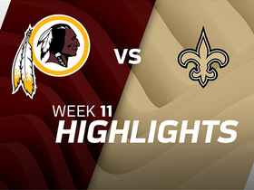 Redskins vs. Saints highlights | Week 11