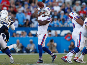 Tyrod Taylor's first pass of game is a 13-yard floater to Charles Clay