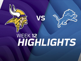 Vikings vs. Lions highlights | Week 12