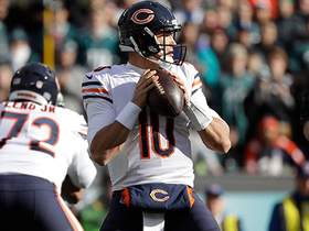 Mitchell Trubisky's 3rd-and-21 pass comes up just short