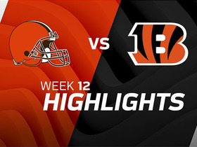 Browns vs. Bengals highlights | Week 12