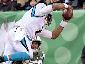 Late hit on Cam Newton causes critical roughing the passer penalty on 3rd-and-11 incomplete pass