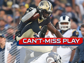 Can't-Miss Play: Alvin Kamara refuses to be brought down, then hurdles for good measure