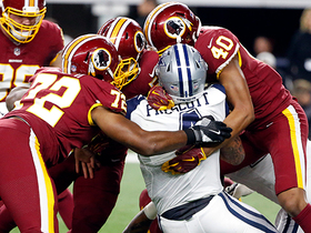 Redskins swarm Dak for massive sack on third-and-7