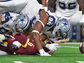 David Irving gets through the line untouched, delivers big hit