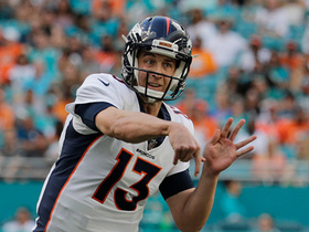 Siemian checks down to Charles who rumbles for 20 yards