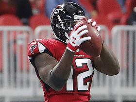 Sanu climbs the ladder for big first-down reception