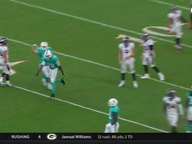 Dolphins send blocked punt completely airborne
