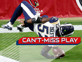 Can't-Miss Play: Ogletree flips into end zone after pick-six