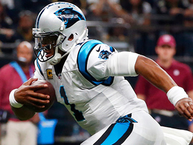 Cam Newton jukes every defender in sight for a 32-yard gain