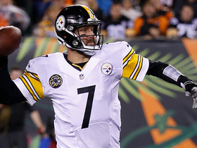Roethlisberger completes tight-window pass to Brown for 12 yards