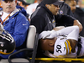 Steelers LB Ryan Shazier carted off field with injury