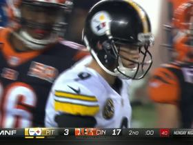 Chris Boswell gets Steelers on board at halftime buzzer