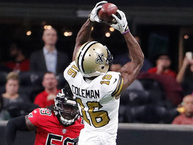 Brandon Coleman slices across midfield for 23-yard gain
