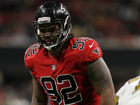 Falcons send Dontari Poe out wide, but fail to convert for TD