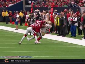 Double coverage can't stop this 28-yard pass by Jimmy G