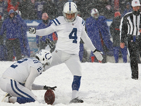 Adam Vinatieri missed field goal brings the game into overtime