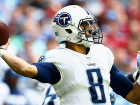 Marcus Mariota throws a crucial dart to Eric Decker for 11 yards
