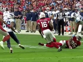 Chad Williams shows off his wheels, picks up 33 yards