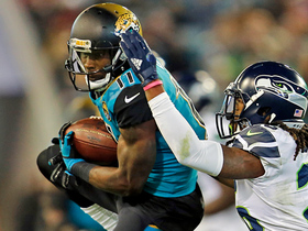 Marqise Lee cuts across the middle for 13-yard gain