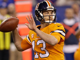 Siemian pins a back-shoulder throw on Sanders for 26 yards