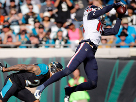 Will Fuller climbs the ladder for slick leaping catch