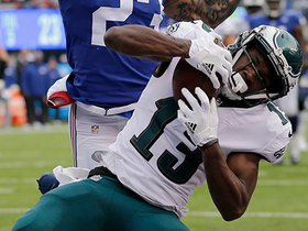 Agholor mosses Morris to haul in Foles' fourth TD pass