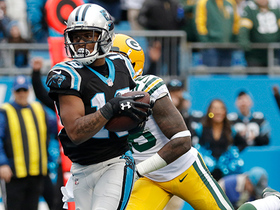 Cam shows off arm strength on 13-yard TD pass to Damiere Byrd