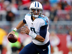 Marcus Mariota slings deep corner route to Eric Decker for 17 yards
