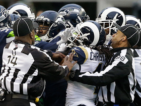 Seahawks draw unsportsmanlike conduct penalty after scuffle breaks out