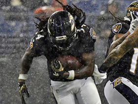 Alex Collins gets upended and fumbles, but Ravens recover it quickly