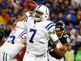 Jacoby Brissett throws pinpoint dime to T.Y. Hilton for 24 yards